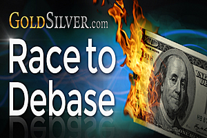 Race to Debase - Fiat Currency vs Gold - Fiat Currency vs Silver - 2000 - 2014