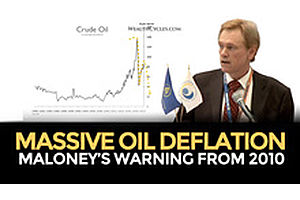 Massive Oil Deflation: Maloney's Warning From 2010