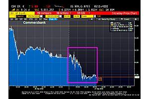germany's deutsche bank and commerzbank continue slip slidin' away