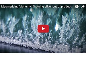 Mesmerizing 'Alchemy': Growing Silver out of Production Waste