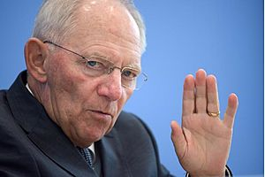 schaeuble says monetary policy has reached its limits
