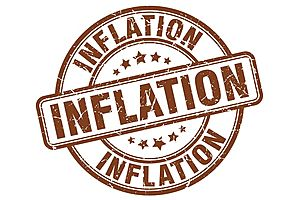 thanks to the dollar inflation moving higher