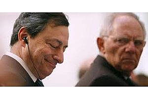 does schäuble want draghi to exit the stage once & for all?