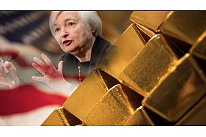 Gold up on Dollar:  Janet Yellen Testifies on Economic Outlook Today