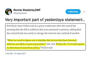 Very Important Part of Janet Yellen's Yesterday Statement...