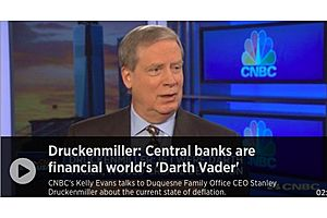 Druckenmiller: Central Banks Are Financial World's 'Darth Vader'