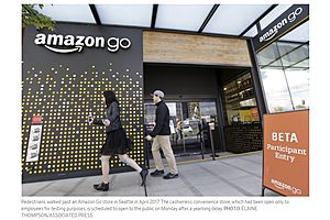 amazon's fully-automated grocery store (no-checkout) opens monday