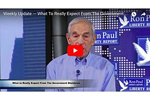 dr. ron paul on what to really expect from the government shutdown