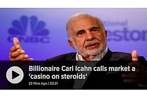 Carl Icahn: Some Day the Market Will 'Implode' Because of Derivatives