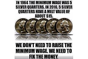 in 1964 the minimum wage was 5 silver quarters