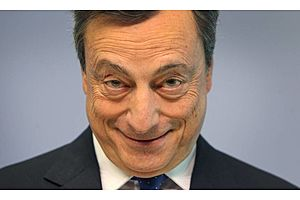 the least surprising thing: draghi already jawboning for continued qe