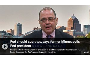 Fed Should Cut Rates, Says Former Minneapolis Fed President
