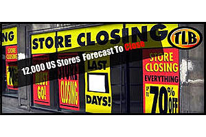 12,000 US Stores Are Forecast To Close In 2019