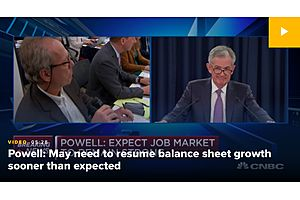 Powell: It's Possible the Fed Will Have to Resume Balance Sheet Growth