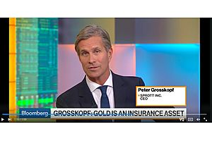 Sprott CEO Says Gold Pullback Not Surprising, Sees Trouble for Economy