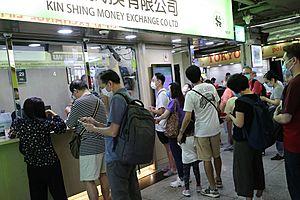 Rush for Us Dollars Leaves Hong Kong Money Changers Short of Supply