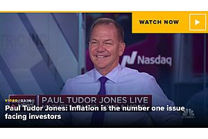 Paul Tudor Jones Says Inflation Could Be Worse Than Feared, Biggest Threat to Markets and Society